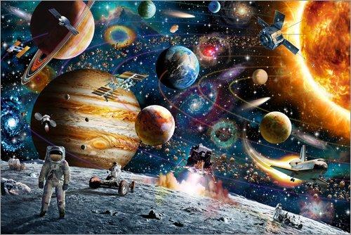 Poster 90 x 60 cm: Weltraumausflug von Adrian Chesterman/MGL Licensing - hochwertiger Kunstdruck, neues Kunstposter