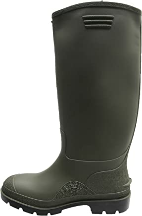 MENS GREEN QUALITY DUNLOP RUBBER WELLINGTONS WELLIES 6-12 UK ONLY �6.95