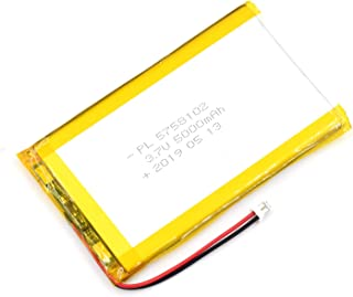 AKZYTUE 3.7V 5000mAh 5758102 Lipo Battery Rechargeable Lithium Polymer ion Battery Pack with JST Connector