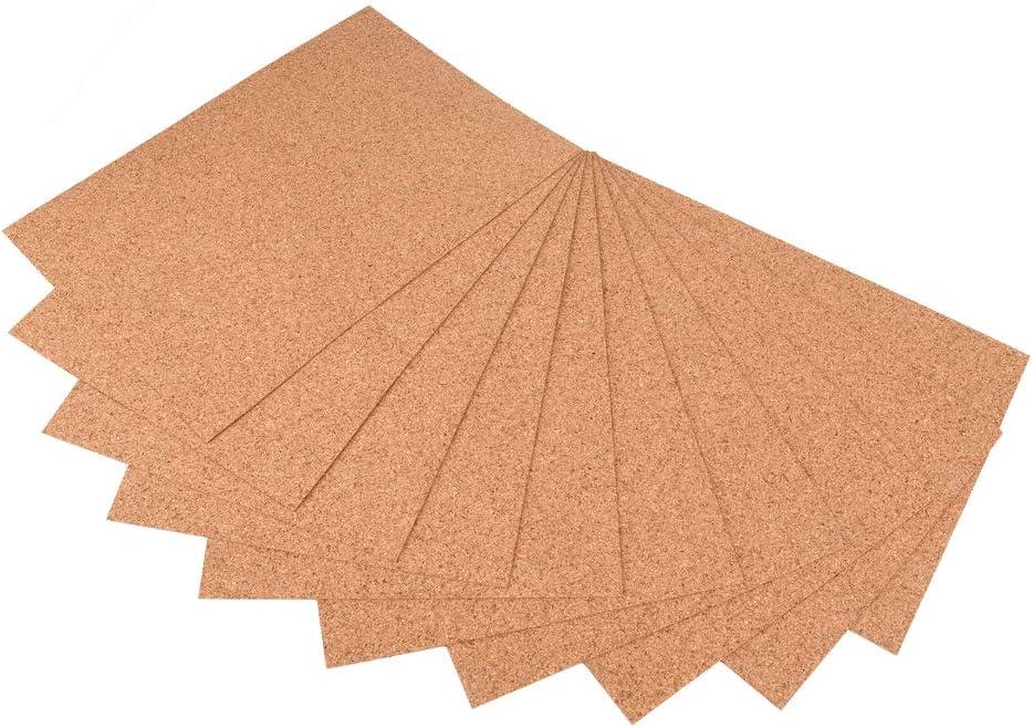 ewtshop® 10 placas de corcho en formato DIN A4, 1mm de grosor para manualidades, tarjetas, decoración de mesa y mucho más
