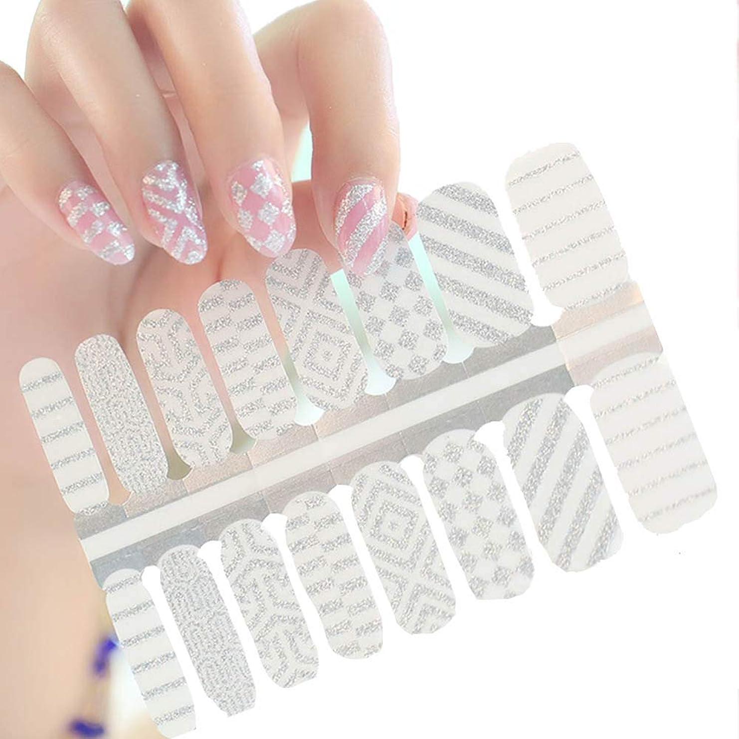シニス血色の良いにやにや16ピース 貼るだけマニキュア ネイルシール ネイルアート ネイルラップ ネイルアクセサリー女性 爪やすり1本付き レディースプレゼント ギフト 可愛い 人気 おしゃれな上級ネイルシール (ZB16043)