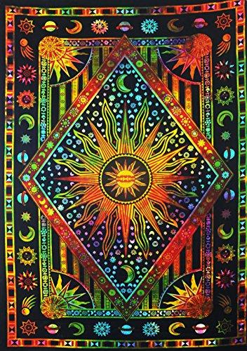 FUTURE HANDMADE Mandala-Wandteppich, Mandala-Motiv (Twin Size, Design T10)
