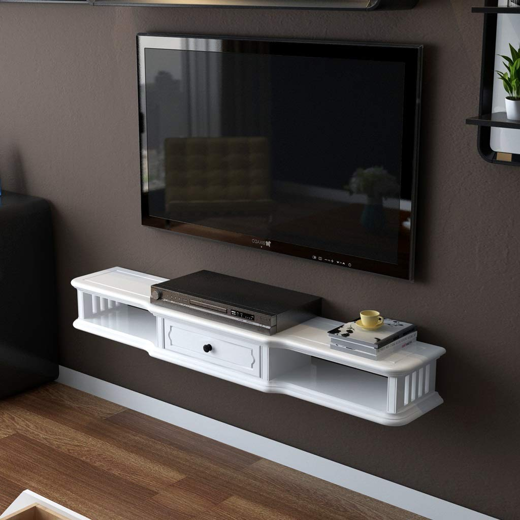TV Rack Consola para Televisor TV con Mueble de Pared, Blanco, 100 cm: Amazon.es: Deportes y aire libre