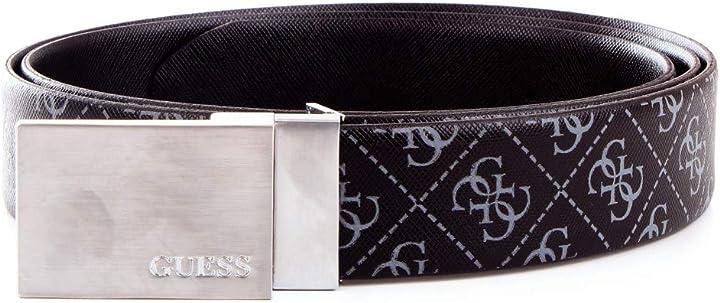 Guess uomo box regalo cintura reversibile doppia fibbia nero mod. gif045 lea35 xl GIF045LEA35