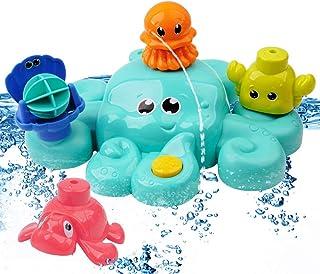 GizmoVine Juguetes de Baño en Forma de Pulpo, Juguetes Eléctricos para Niños,Juguetes Bañera de Bebé Hechos para Muchachos y Chicas ; Juguete de Piscina para Juego de Chorro Animals.