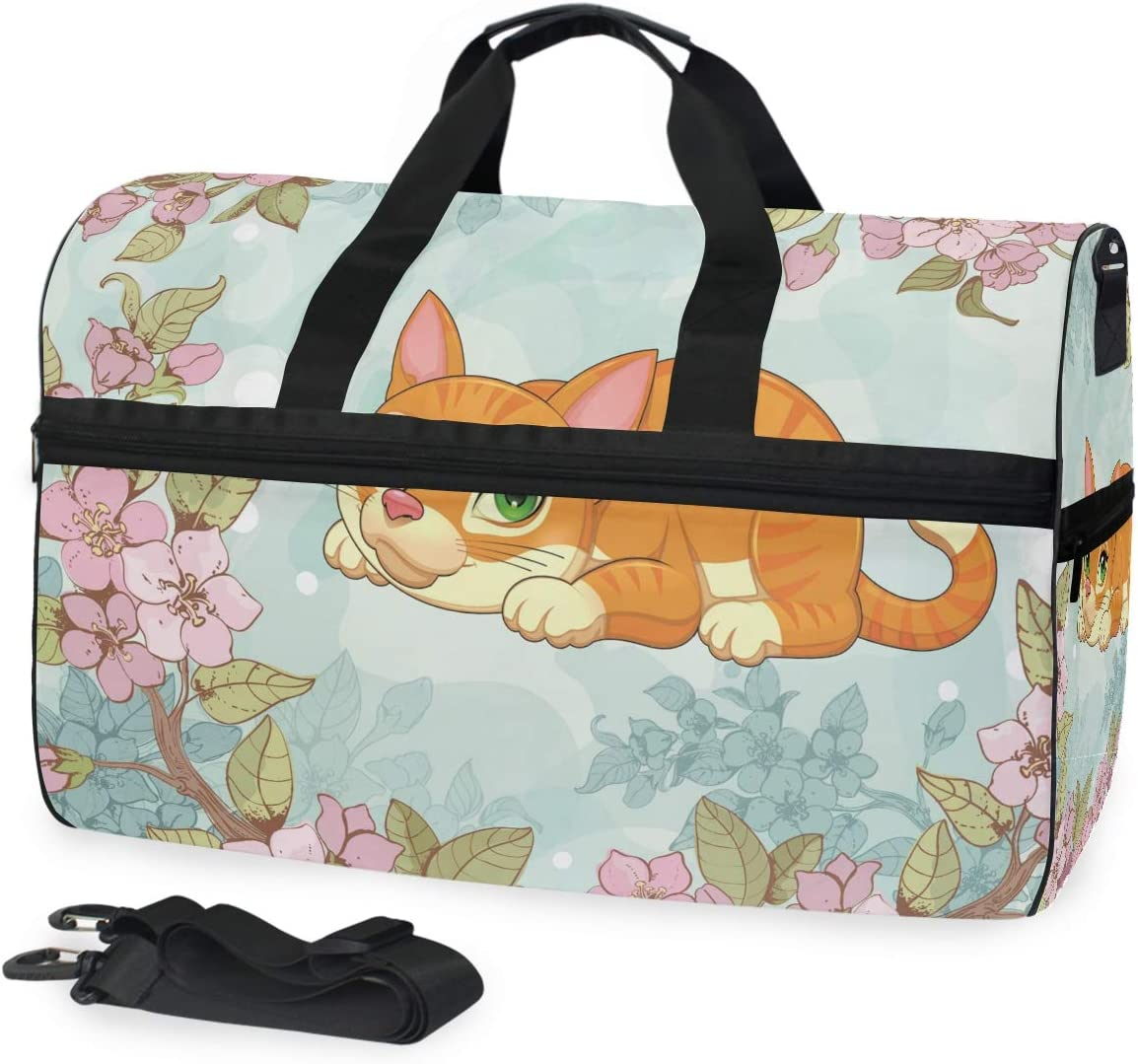 Sports Swim National products Gym Bag with Shoes Compartment Ranking TOP7 Flower Cat Kitty Week