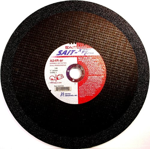 United Abrasives- SAIT 23420 Type 1 12-Inch x 1/8-Inch x 20mm Type 1 A24R Cut-Off Wheel, 10-Pack