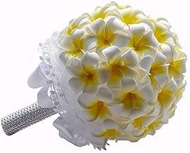 KUPARK Plumeria Rubra Bouquet Bridal Wedding Bouquet Decoration Valentine Gift