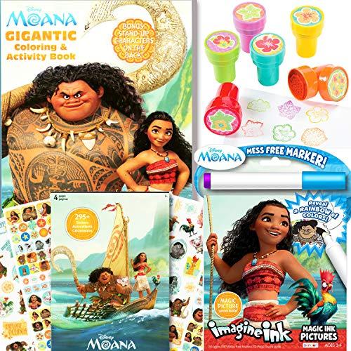 Disney Moana Coloring & Activity Book with Moana Stickers,...