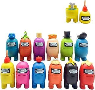Among Us statyett, 12 st mini söta figurer, samling, leksaker, avtagbara dockor, prydnader, födelsedag för barn