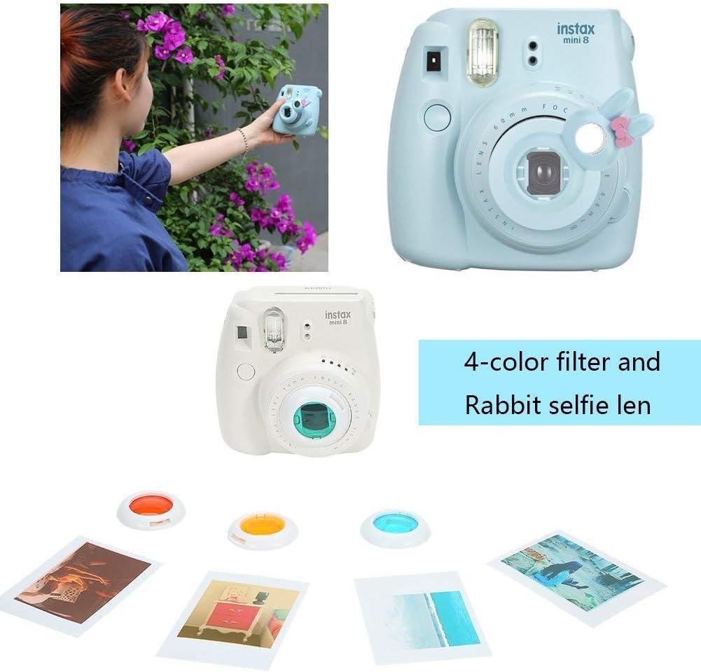 Snow White Strap,etc Stickers Includes Camera Case Album Frame Katia Instant Camera Accessories Bundle Compatible for Fujifilm Instax Mini 9 // Mini 8+ // Mini 8 Instant Film Camera