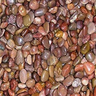 2 Pounds Decorative Stones, Small Red Polished Pebbles, Rocks, 32 oz Bag, Indoor or Outdoor Decorative Stones for Craft Projects, Vase Fillers, Succulents, Cactus Pots, Terrarium Plants