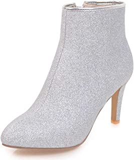 30e1dad63a3b8 Amazon.com: Silver - Knee-High / Boots: Clothing, Shoes & Jewelry