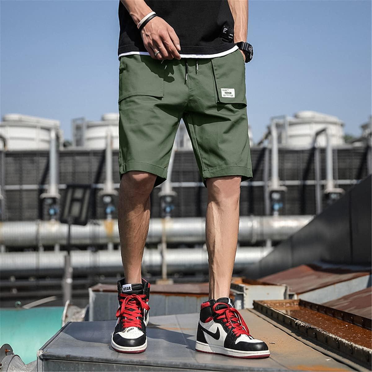 WoJogom Plus Size Summer Cargo Shorts Men Cotton Casual Shorts Male Loose Short Cargo Pants