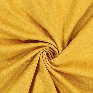 Fabulous Fabrics Fabulous Fabrics Romanit Jersey senf – Weicher Jersey Stoff zum Nähen von Kleider, Leggings, Shirts & Tuniken - Meterware ab 0,5m