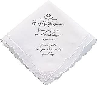 Lillian Rose Stepmom Wedding Gift Embroidered Keepsake Hankie