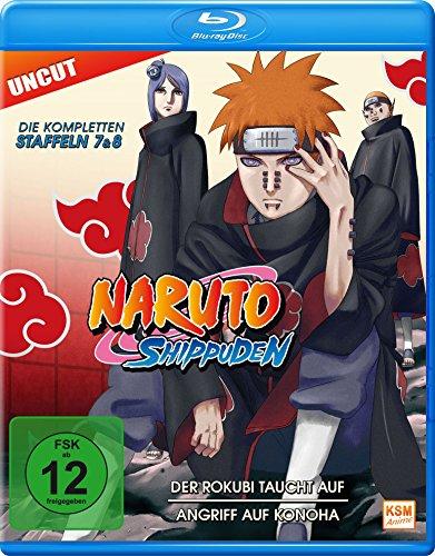 Naruto Shippuden - Der Rokubi taucht auf / Angriff auf Konoha (Staffel 7+8: Folge 364-395 - UNCUT) [Blu-ray]