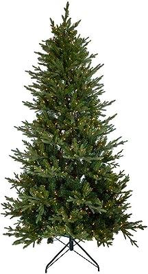 Kurt S. Adler 7.5-Foot LED Frasier Fir 8-Function Lights Christmas Tree, Multi