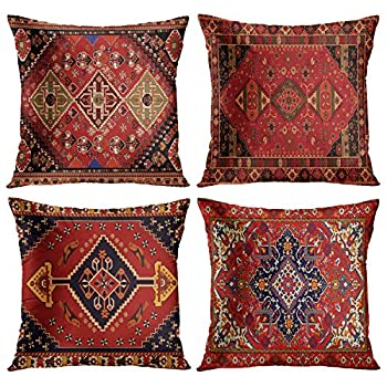 Best throw pillow covers red Reviews