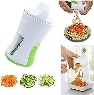 SODIAL 1個スパイラル漏斗野菜採取器 ABSステンレススチールニンジンキュウリスライサー 野菜のチョッパー 螺旋羽根カッター