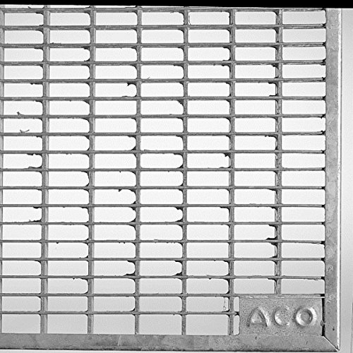 ACO 125 cm breites Lichtschachtrost begehbares Maschenrost MW 30/10 mm aus verzinktem Stahl
