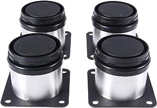 BESTOMZ Meubelpoten kastpoten metaal verstelbaar roestvrij staal keuken rond 4-pack