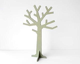 Organizador de joyas en forma de árbol verde oliva, Colgador para anillos, pulseras y pendientes