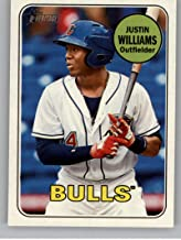2018 Topps Heritage Minor League Baseball #3 Justin Williams Durham Bulls Official MILB Trading Card