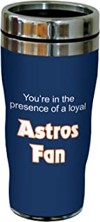 Tree-Free Greetings sg24088 Astros Baseball Fan Sip 'N Go Stainless Steel Lined Travel Tumbler, 16-Ounce