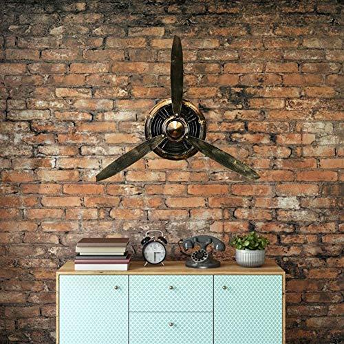 Reloj de Pared Retro de Hierro Forjado, hélice de Metal Reloj de Pared Retro de Hierro Forjado Hélice Decoración de Pared Colgante de Pared Hélice de Reloj para Loft Restaurante Bar
