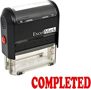 Completed Self Inking Rubber Stamp - Red Ink