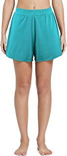 Nonwe Women's Solid A-Line Boyshort Loose Sport Shorts Turquoise 16