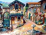 5D DIY diamante pintura ciudad paisaje bordado completo redondo taladro punto de cruz mosaico imágenes de diamantes de imitación Kit de manualidades A1 40x50cm