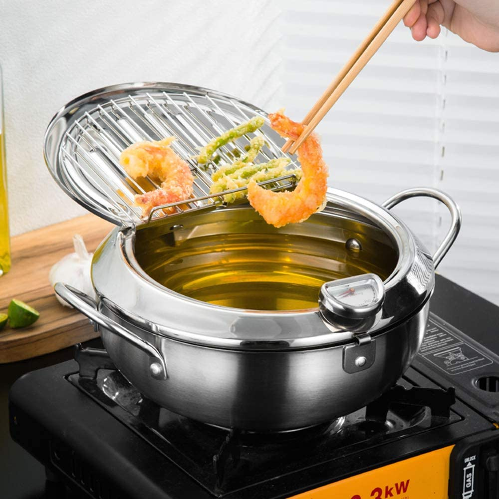 BYBYCD Stainless Steel Deep Frying Pan Ther with Pot Sales results No. Max 81% OFF 1