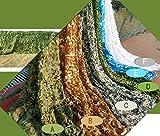 XiZiMi Barbacoa de Camping Red de Camuflaje Camuflaje de Selva decoración de Exteriores fotografía de Defensa aérea Material Impermeable de Oxford C Digital Green