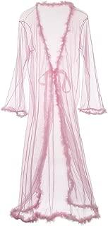 Women Sexy Lace Sheer Long Lingerie Robe Nightgown Bathrobe Pajamas Sleepwear
