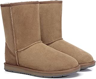 UGG Boots Short Classic Premium Australian Sheepskin Water Resistant Non-Slip
