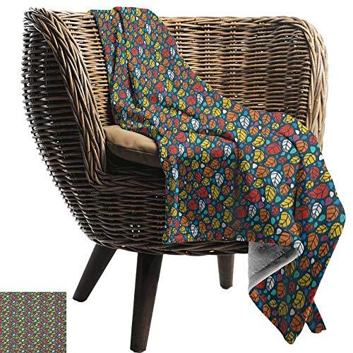ZSUO picknickdeken waterdicht Kleurrijk, Leuke Vogel met een groene paraplu Ontsnappen uit de regen Schattige Artwork Print Multi kleuren Gezellige en Duurzame Fabric-Machine Wasbaar