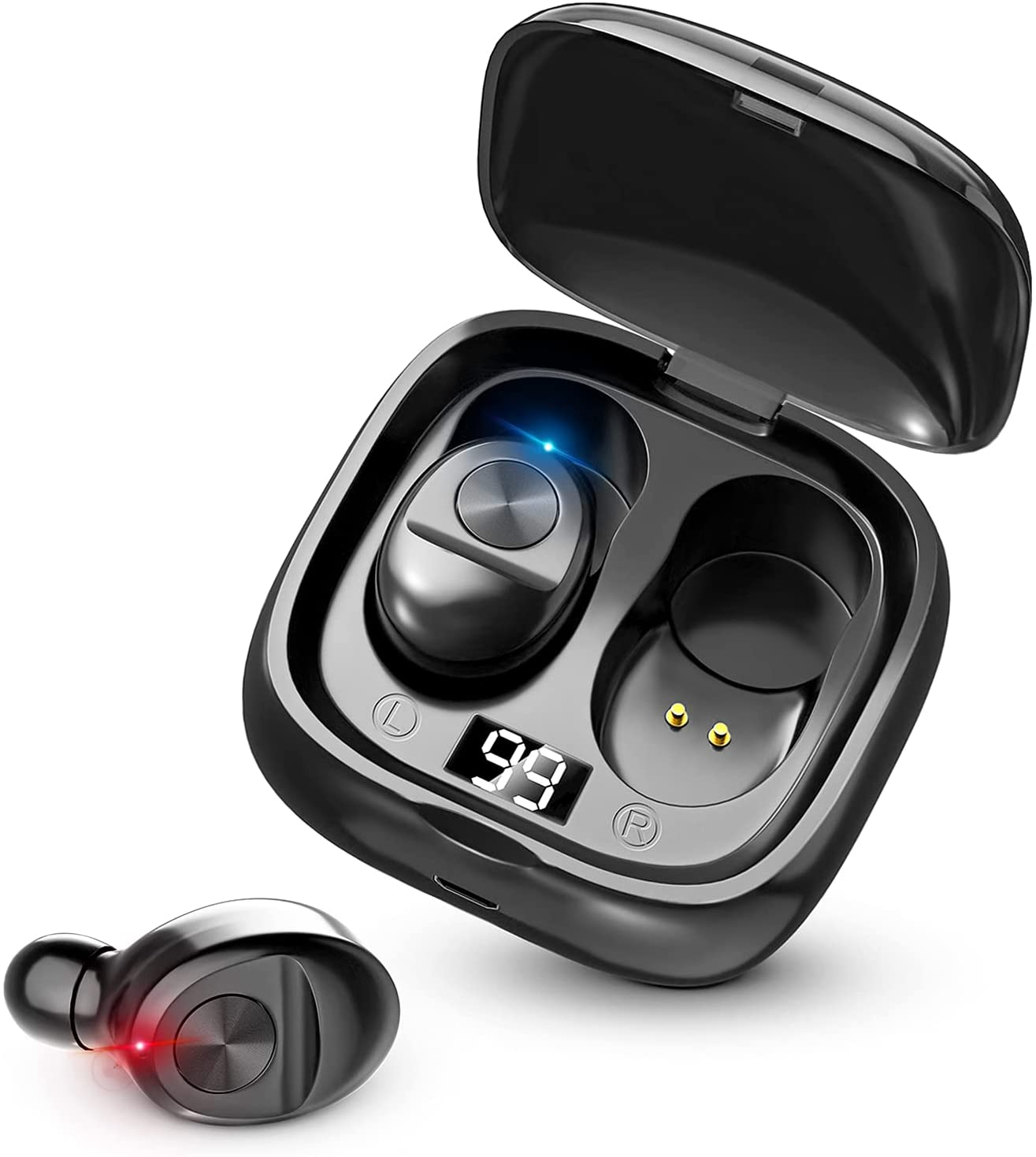 Kindpack Earbuds 5.0 Mini Headphones with Char Washington Mall Earphones in-Ear Don't miss the campaign