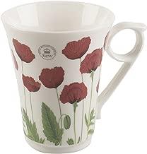 Royal Botanic Gardens, Kew Poppy Classic Fine China Mug by Creative Tops, 300 ml (10 fl oz)