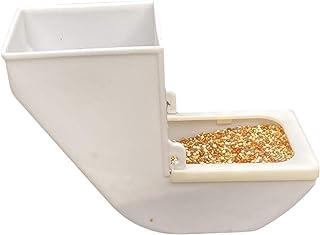 ZHANGXIAOYU Alimentador extraíble pájaro del Animal doméstico de contenedores Colgantes alimentador automático (Color : Wh...