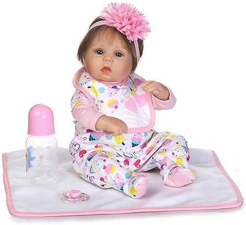 16.5 Zoll 42Cm Lebensechte Reborn Baby Puppe Weiße Simulation Silikon Tuch   Augen Offenen Magnetischen Mund Kind Spielen Spielzeug Geburtstag Festliche Geschenk HOJZ