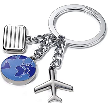 Silver Green Next Destination Muc Key Ring By Troika Luggage