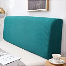Bed Headboard Slipcover Protector with Stretch Side Dustproof Super King Cotton Cover for Twin Full King (Color : Turquois...