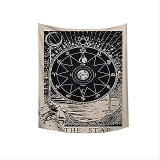 JMKHY Tapiz Pared Tarot Colgar en la Pared Astrología Adivinación Cubierta de Cama Estera de Playa Tapiz Brujería Tela de Pared 130x150cm