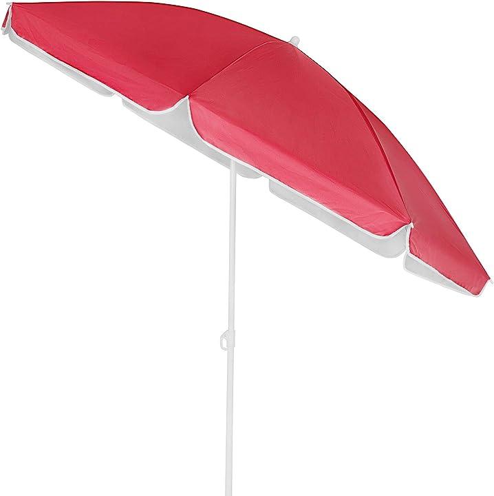 Ombrellone spiaggia 200cm uv50+ inclinabile altezza regolabile ombrelloni giardino mare kingsleeve 106847