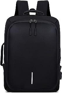 Antirrobo Laptop Mochila con Puerto de USB Tira Reflectante Hombres/Mujeres Bolso de Mano Impermeable Bolso de Escuela Outdoor Viaje Camping Rucksack Poliéster Negro