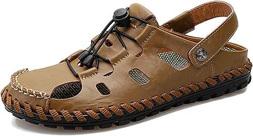 Tufanyu Zapaños Oxford para hombres Zapaños Formales Slip On Style OX Cuero Retro Punta rojoonda Peso Ligero Ajustaño (Color   marrón Oscuro, Tamaño   44 EU)
