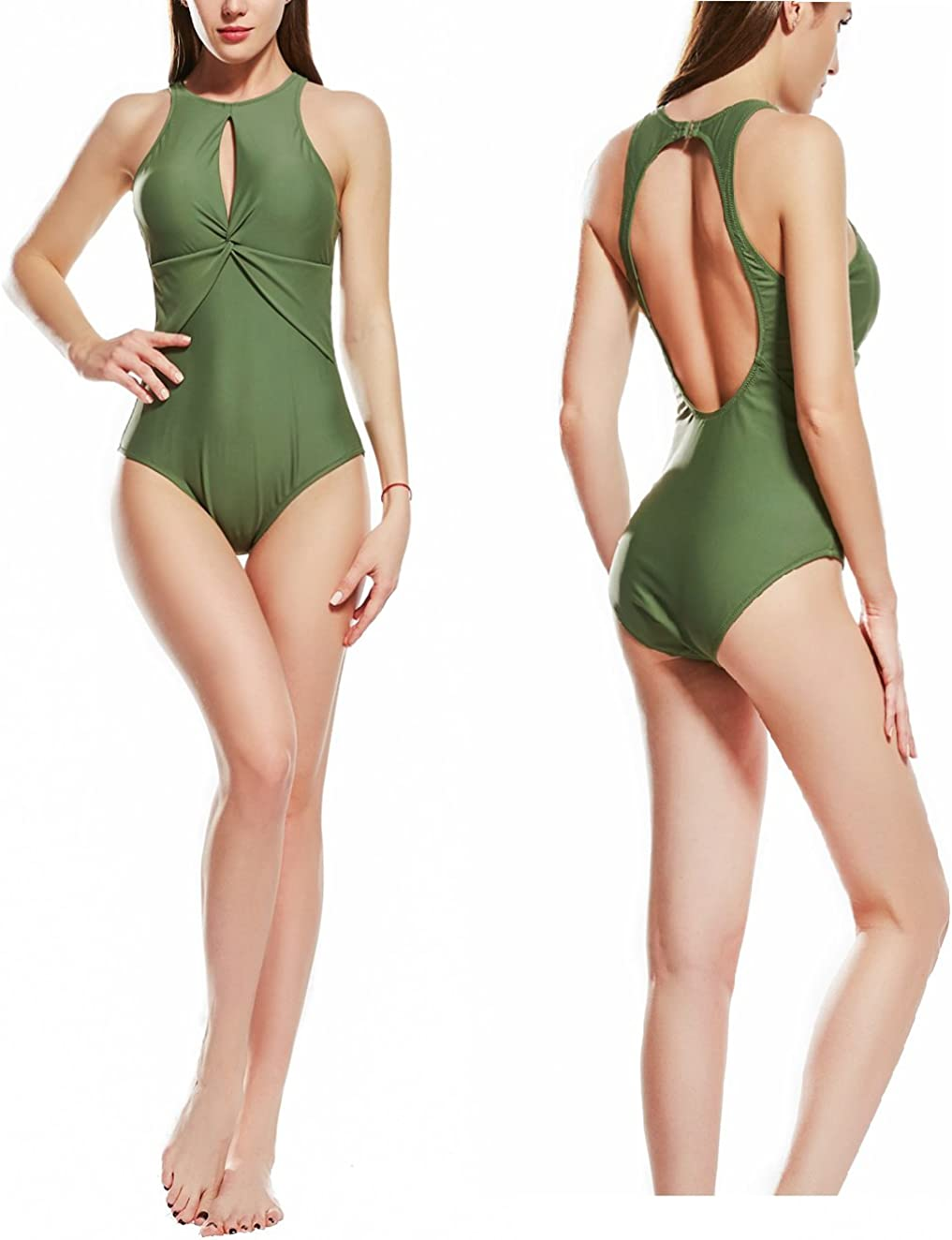 ANTSANG Womens One Piece Swimsuit Bathing Suit for Athletic Sport Training Exercise Racing