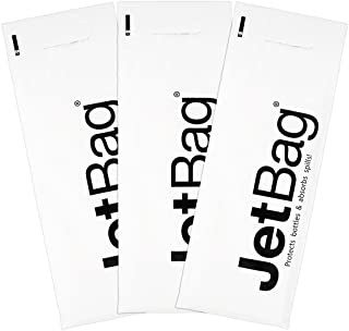 Jet Bag Mono - (Set of 3) The Original Reusable, Protective and Absorbent Bottle Bags for Wine, Growlers or other Liquids Made in the USA!,White